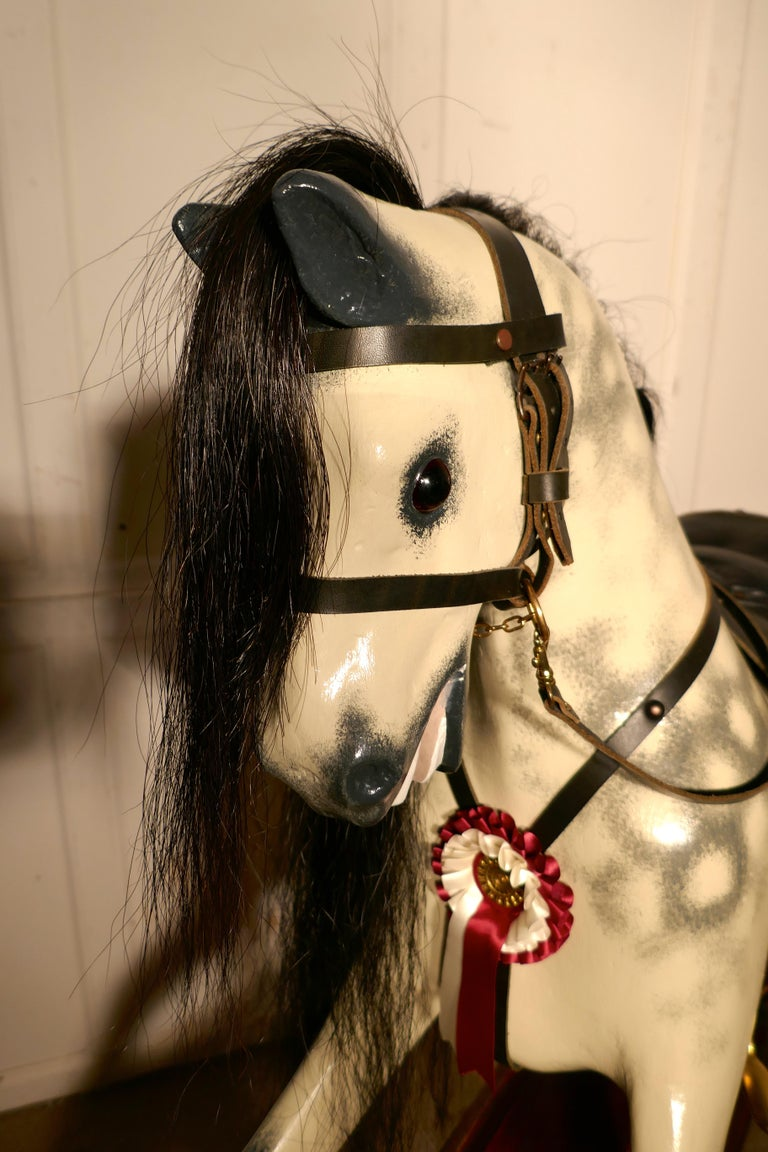 Edwardian Rocking Horse by Lines Bros Ltd In Good Condition In Chillerton, Isle of Wight