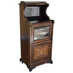 Edwardian Rosewood and Inlaid Music Cabinet