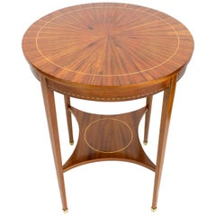 Edwardian Round Side Mahogany Table from England