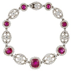 Edwardian Ruby and Diamond Bracelet