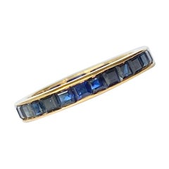 Edwardian Sapphire and 18 Carat Gold Full Eternity Band