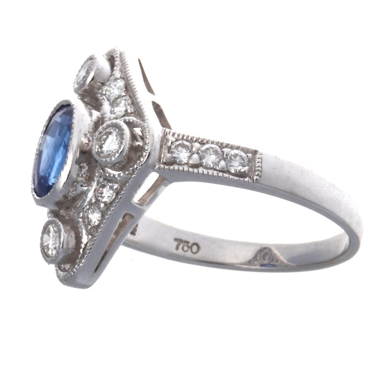 Nothing brightens your day more than the thought of wearing a ring from the era of Kings and Queens. This particular ring is from the Edwardian period, the gentle and feminine lines are perfect to complement any outfit adding  some color to it.