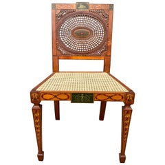 Edwardian Satinwood and Painted Side Chair