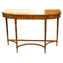 Edwardian Satinwood Console Table