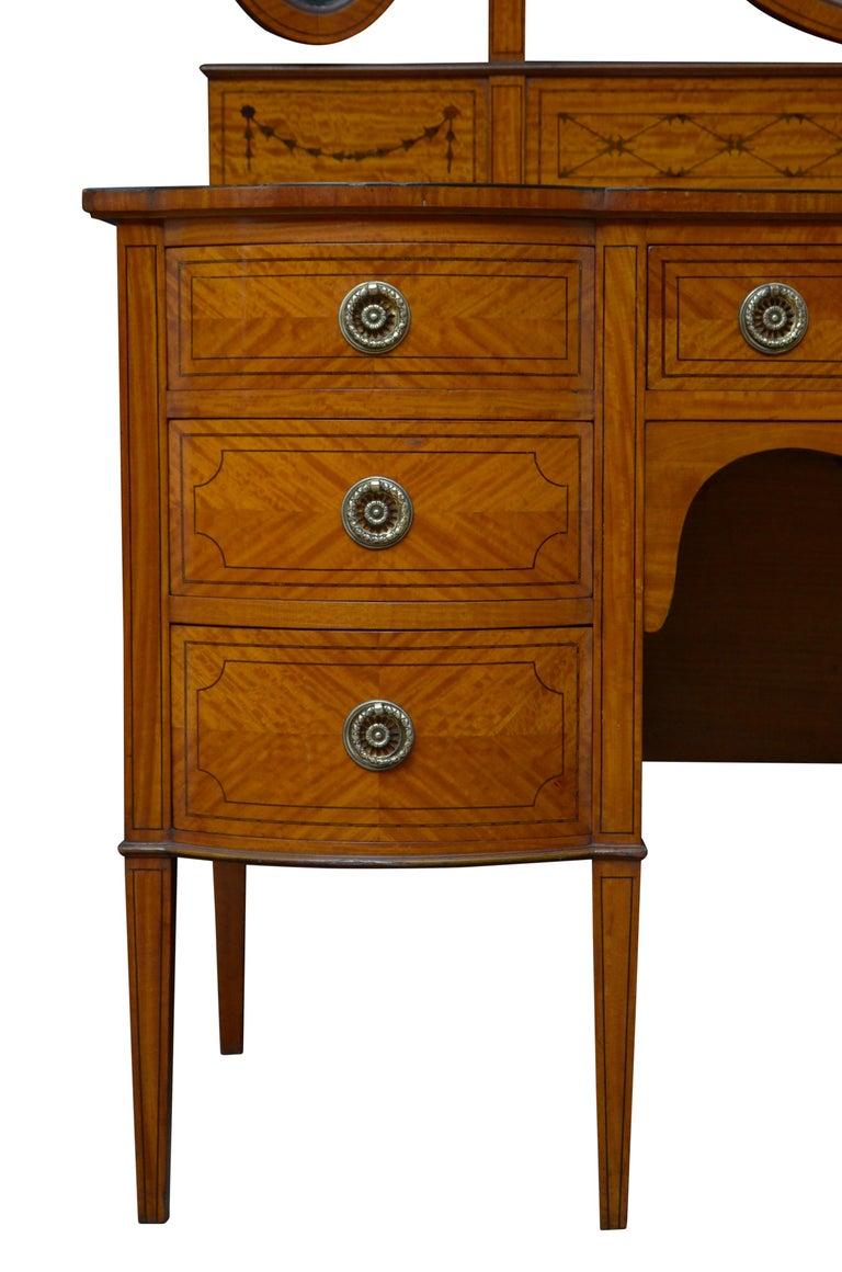 Edwardian Satinwood Dressing Table For Sale 8