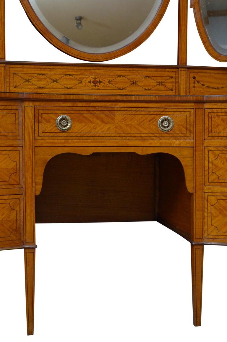 Edwardian Satinwood Dressing Table For Sale 9