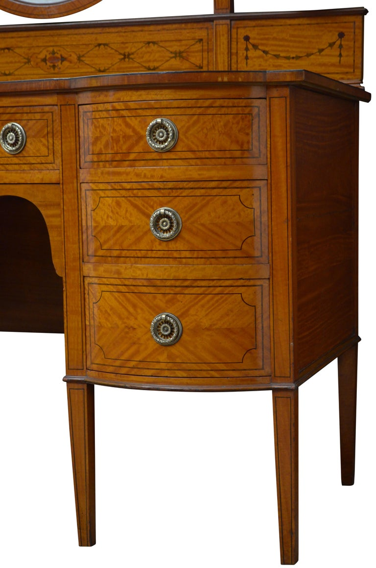 Edwardian Satinwood Dressing Table For Sale 10
