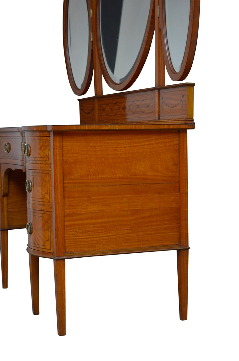 Edwardian Satinwood Dressing Table For Sale 11
