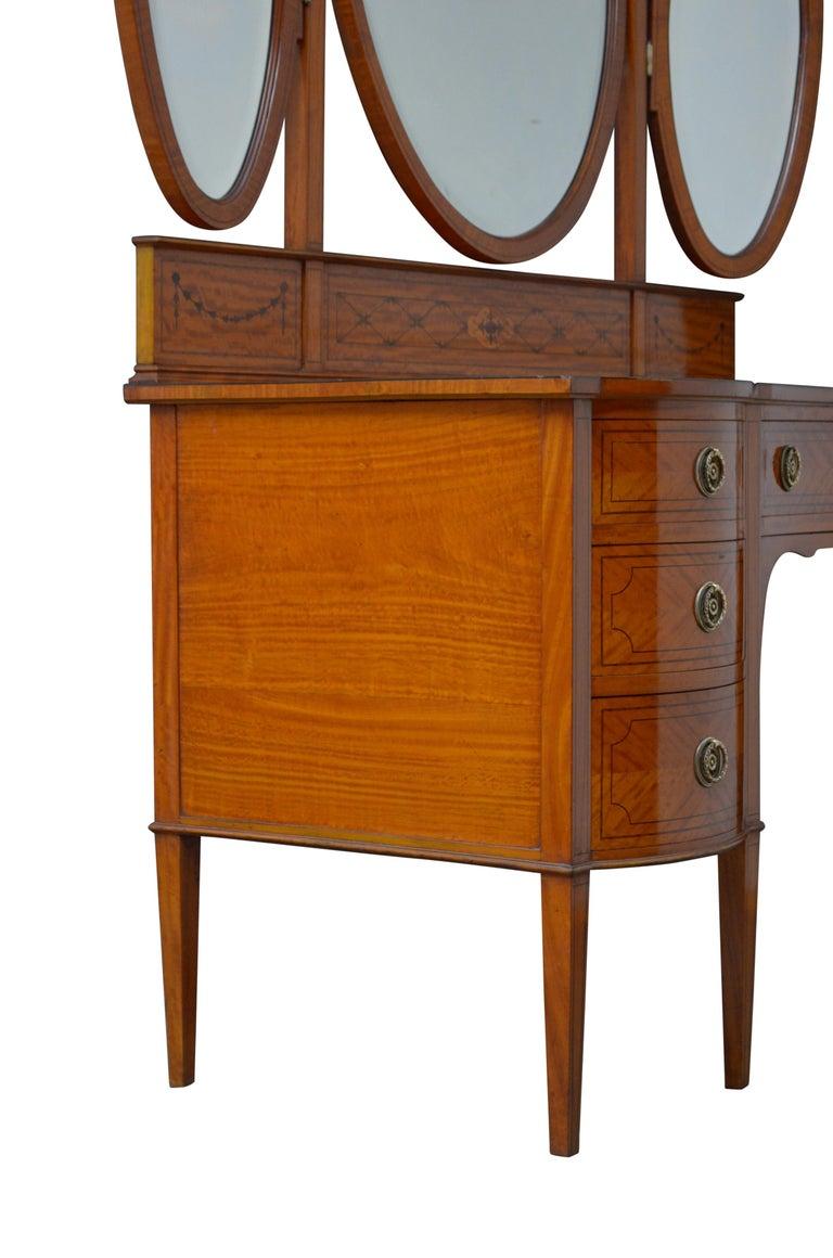 Edwardian Satinwood Dressing Table For Sale 12