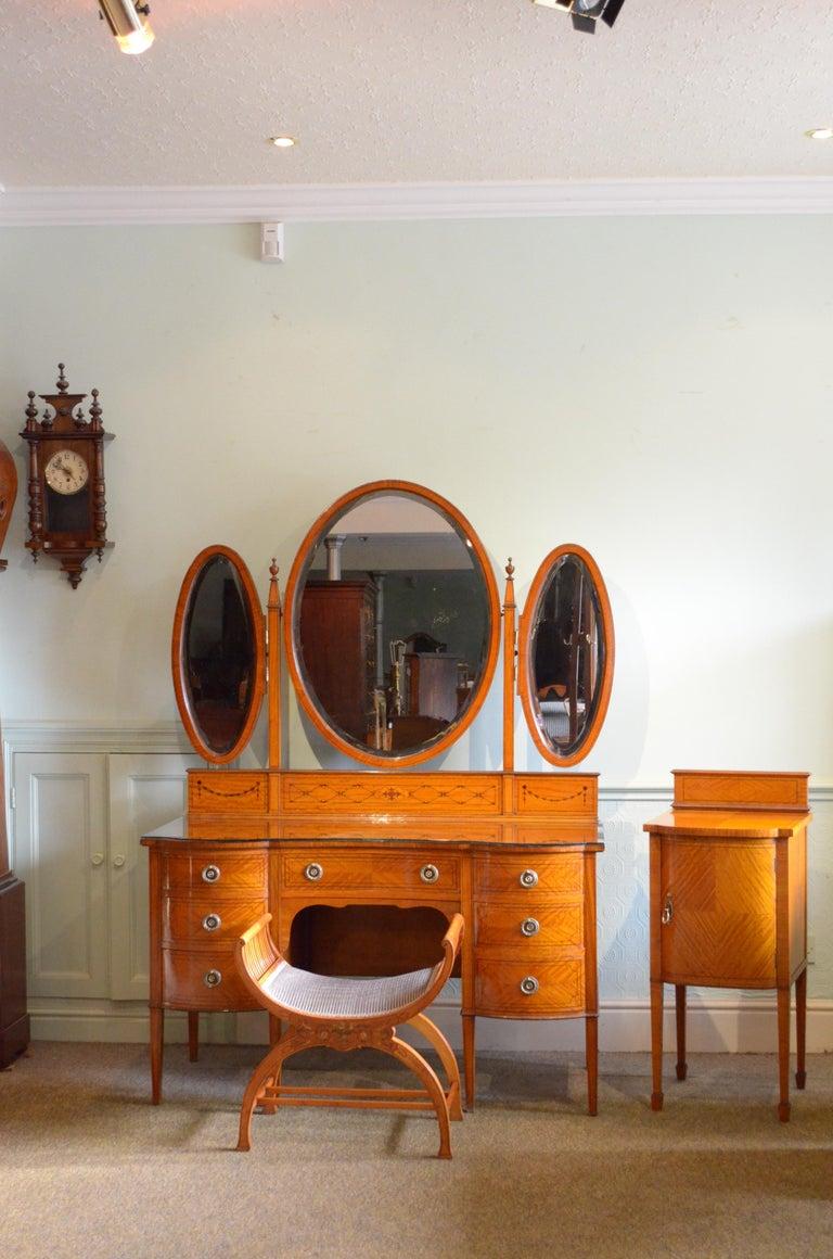 Edwardian Satinwood Dressing Table For Sale 13