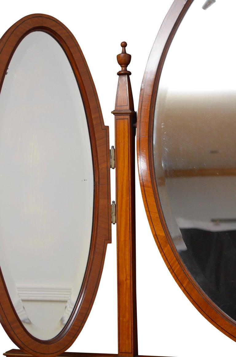 English Edwardian Satinwood Dressing Table For Sale