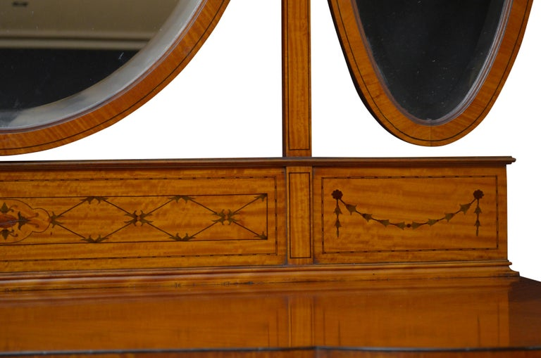 Edwardian Satinwood Dressing Table For Sale 2