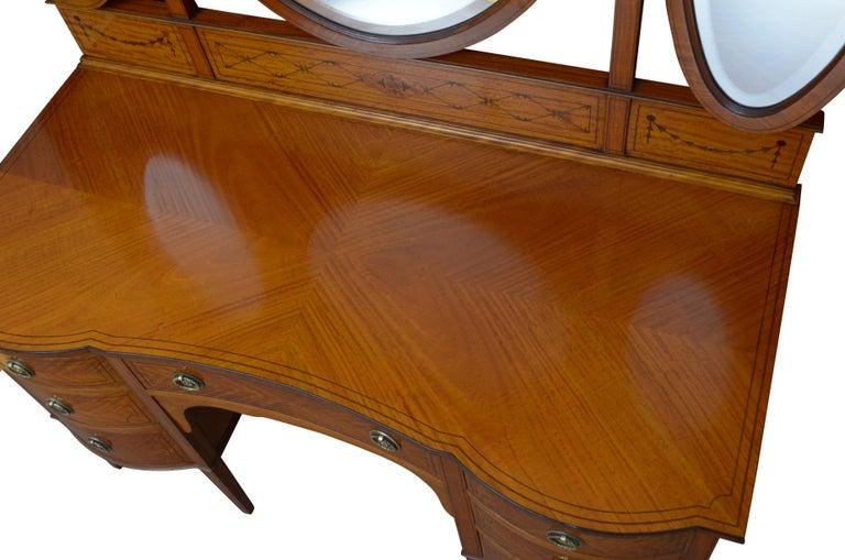 Edwardian Satinwood Dressing Table For Sale 3