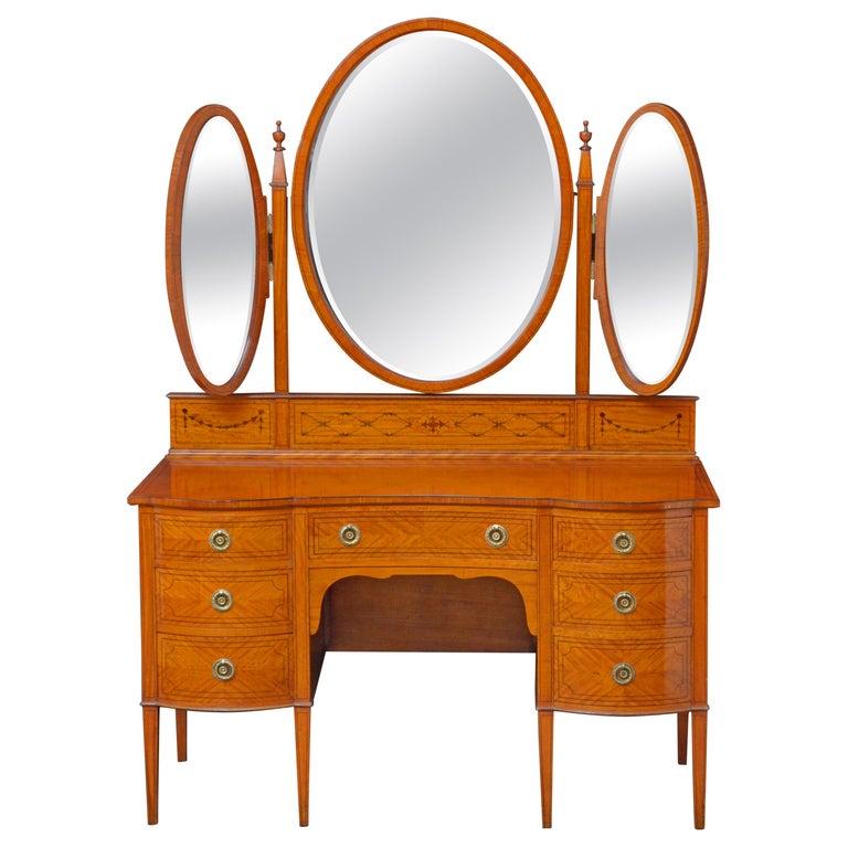 Edwardian Satinwood Dressing Table For Sale
