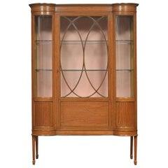 Edwardian Satinwood Inlaid Display Cabinet