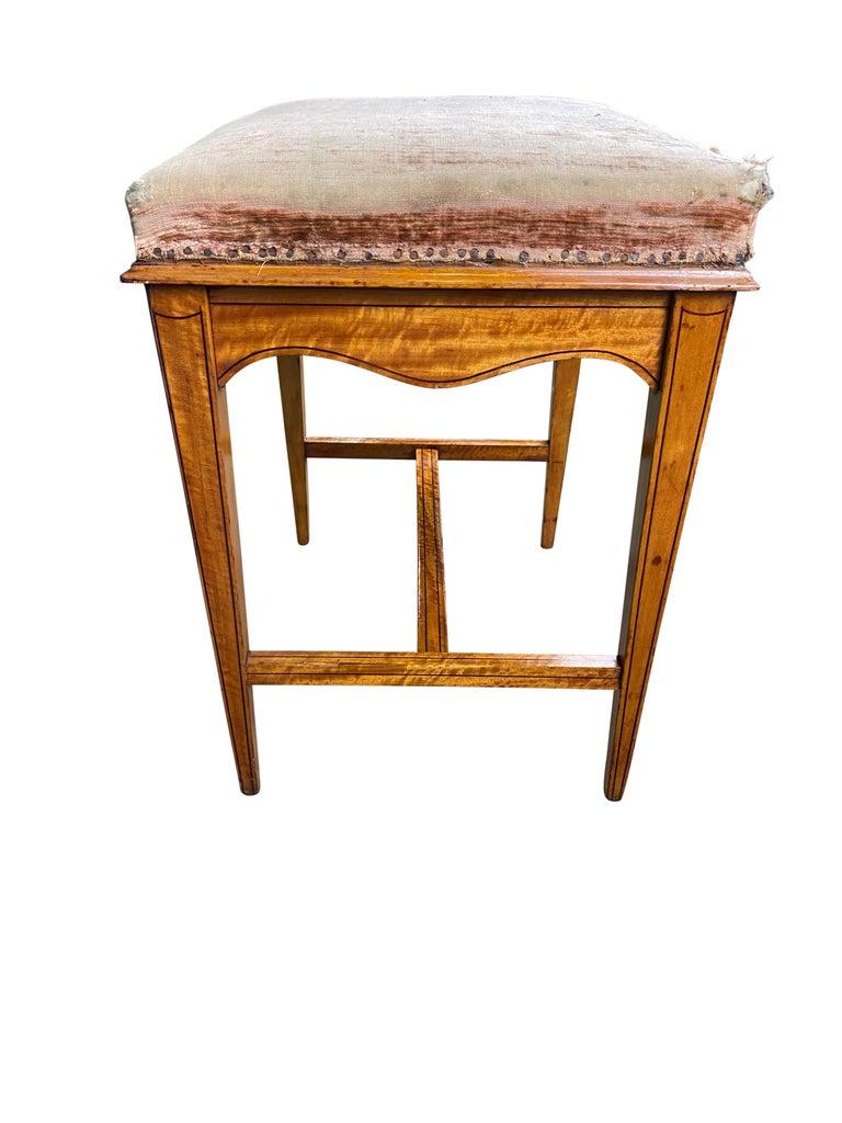 Edwardian Satinwood Stool, 19th Century For Sale 4