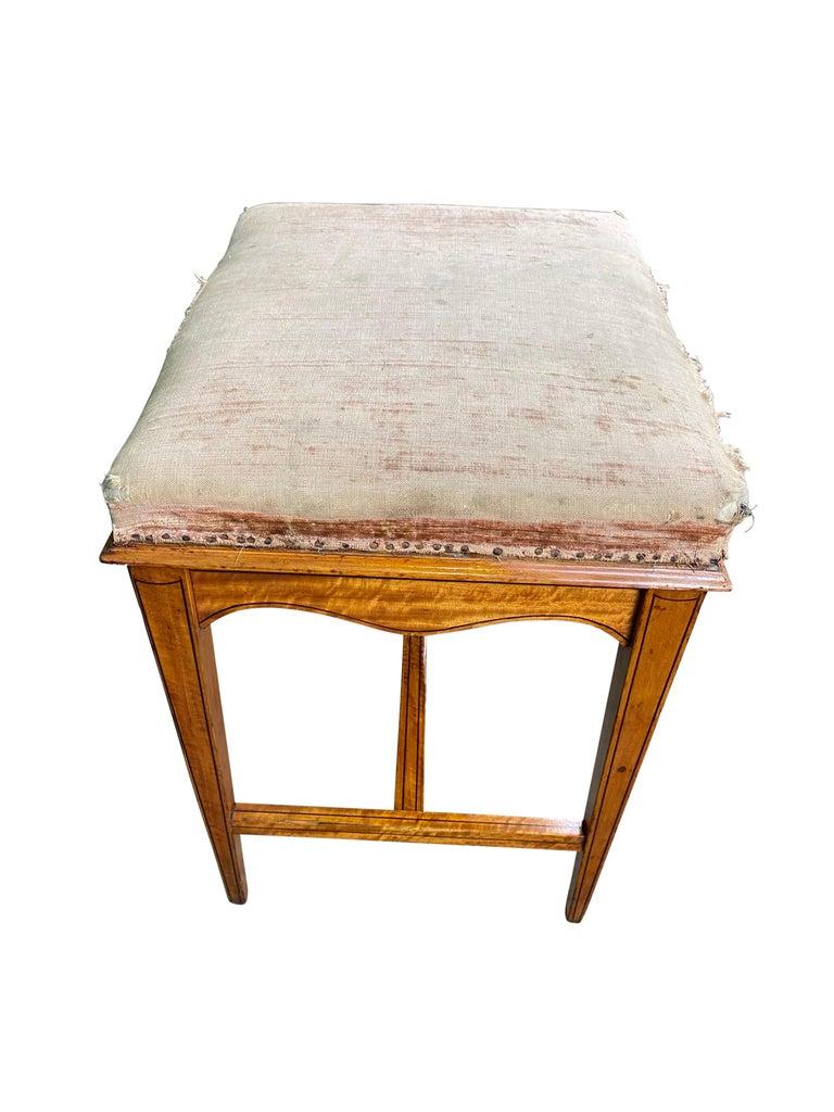 Edwardian Satinwood Stool, 19th Century For Sale 5