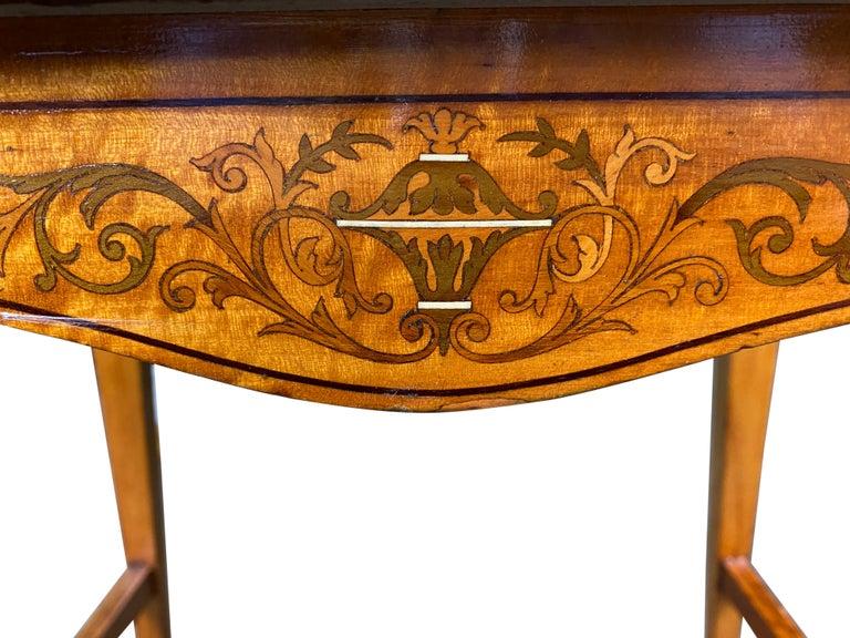 Woodwork Edwardian Satinwood Stool, 19th Century For Sale