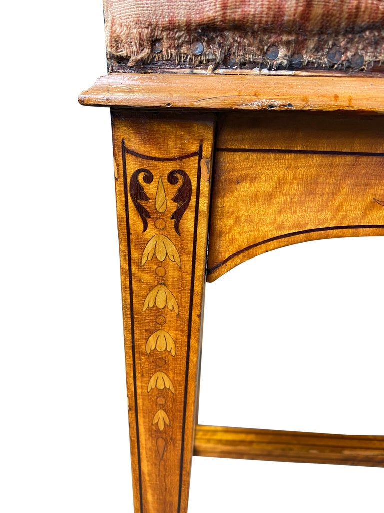 Edwardian Satinwood Stool, 19th Century In Good Condition For Sale In London, GB