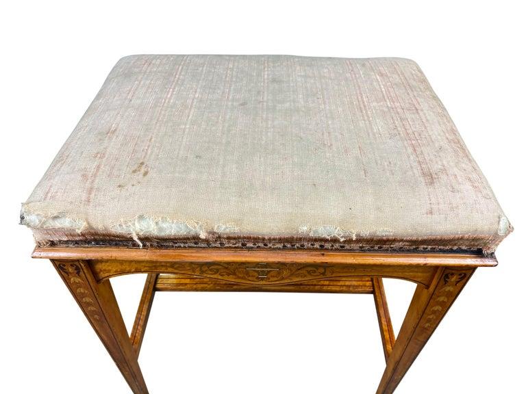 Edwardian Satinwood Stool, 19th Century For Sale 2