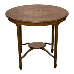 Edwardian Sheraton Revival Mahogany Occasional Table
