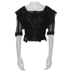Edwardian Silk & Lace Blouse with Floral Embroidery