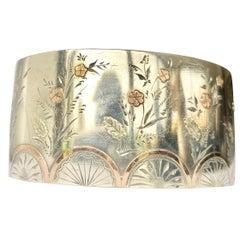 Edwardian Silver and Gold Overlay Bangle
