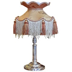 Edwardian Silver Plate Table Lamp