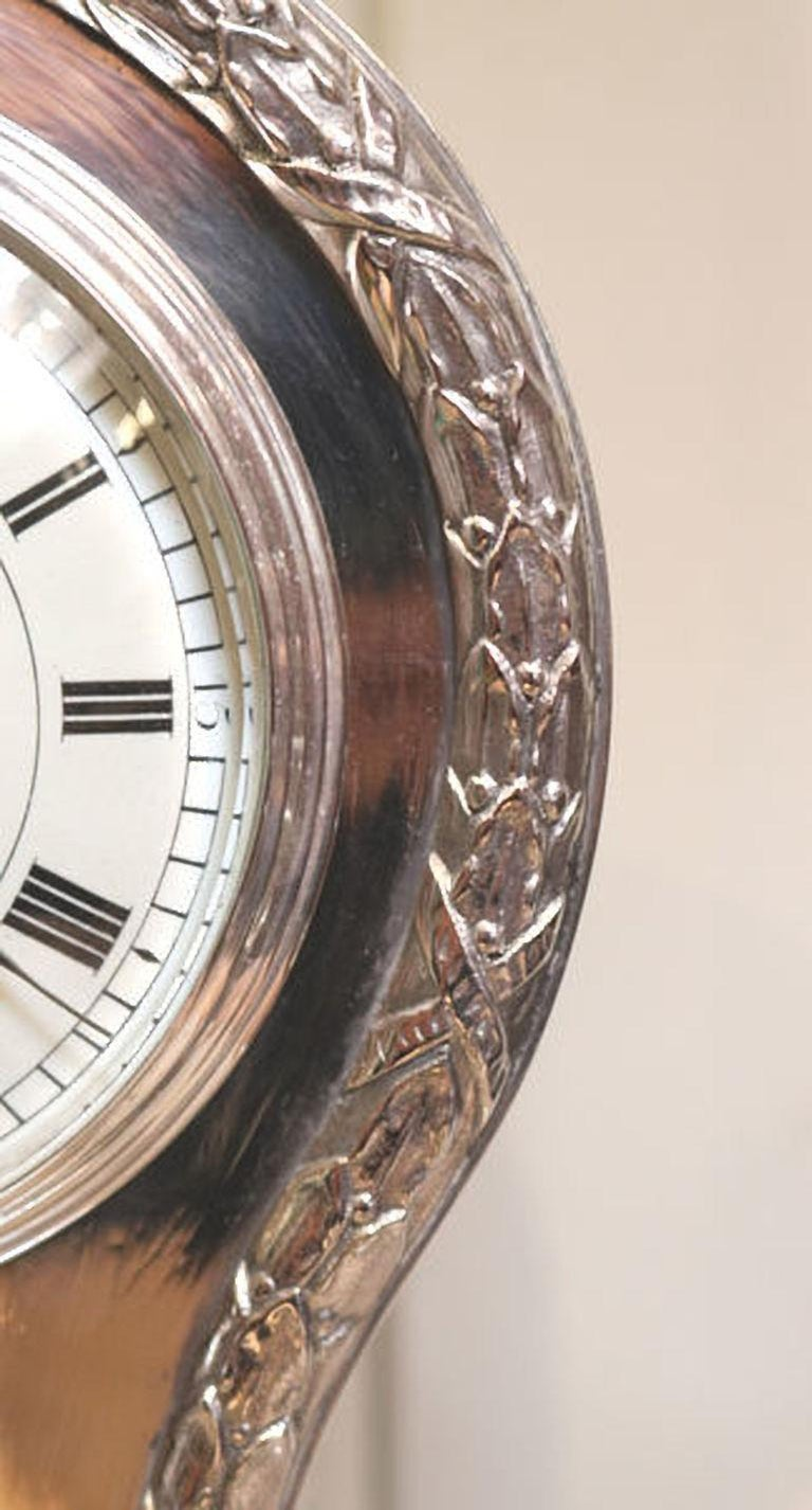 Edwardian Silver Plated Balloon Clock For Sale 1