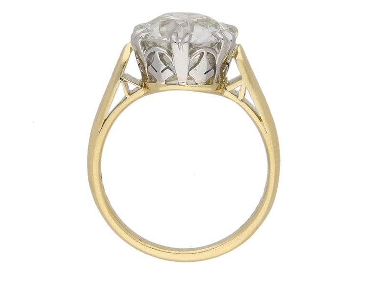 Edwardian Solitaire Diamond Ring, circa 1910 In Good Condition For Sale In London, GB