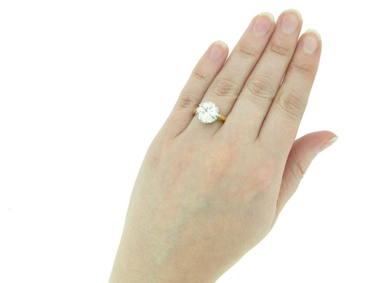 Edwardian Solitaire Diamond Ring, circa 1910 For Sale 1