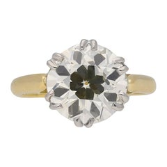 Edwardian Solitaire Diamond Ring, circa 1910