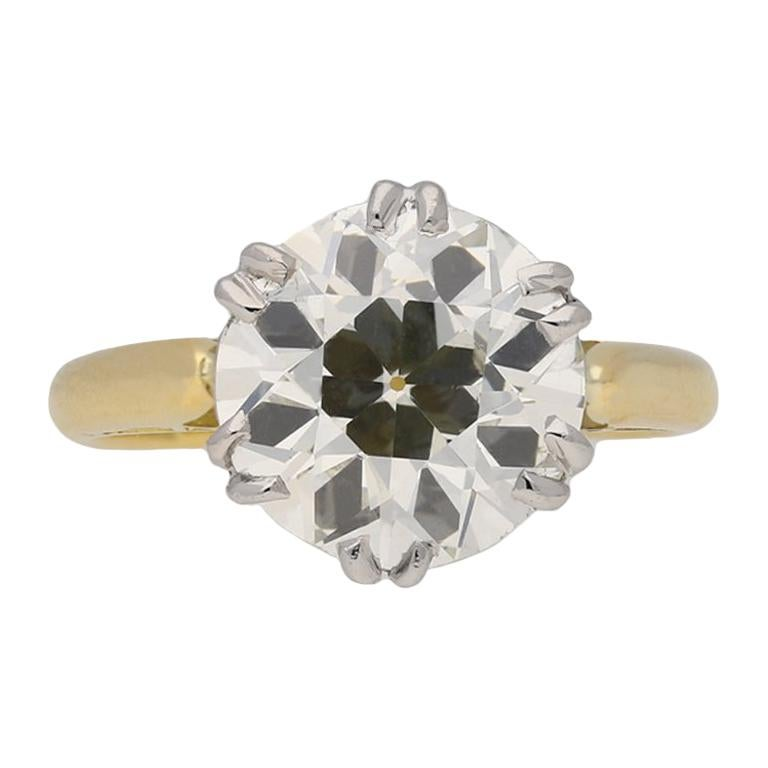 Edwardian Solitaire Diamond Ring, circa 1910 For Sale
