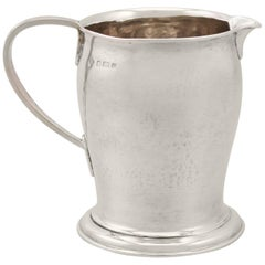 Edwardian Sterling Silver Cream Jug Arts & Crafts Style