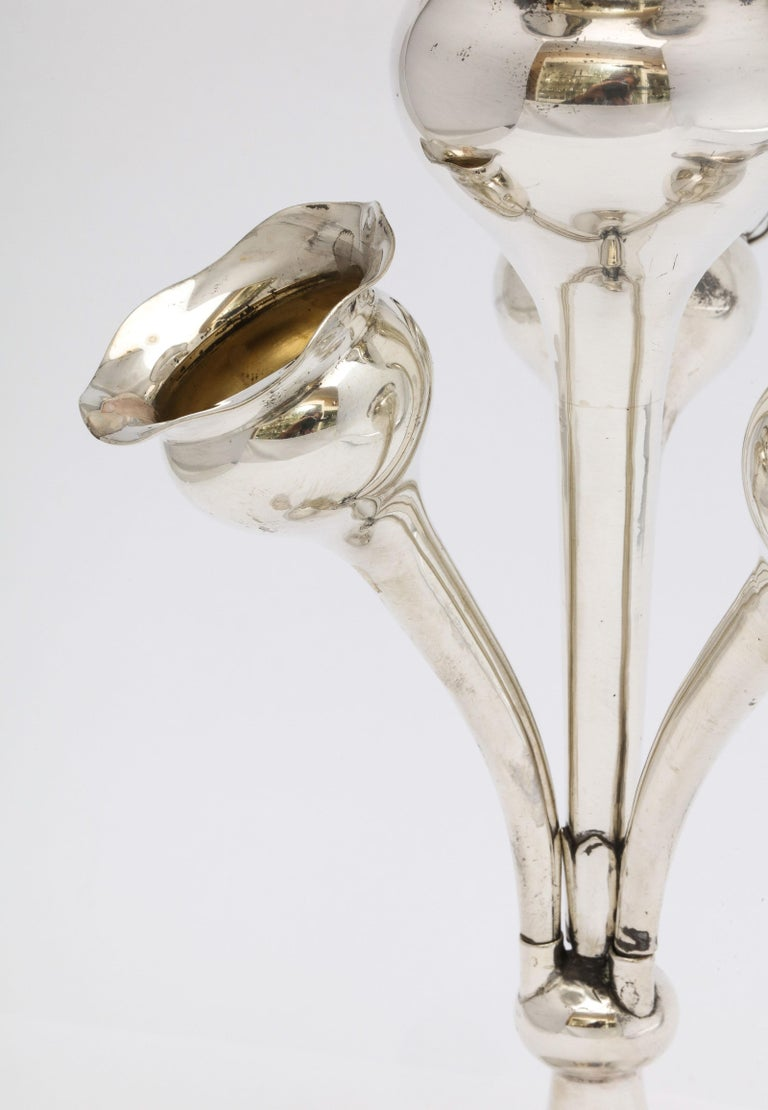 English Edwardian Sterling Silver Epergne/Centerpiece For Sale