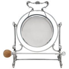 Edwardian Sterling Silver Gong from 1909 by Fenton Brothers