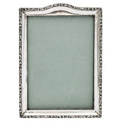 Edwardian Sterling Silver Hump-Topped Picture Frame