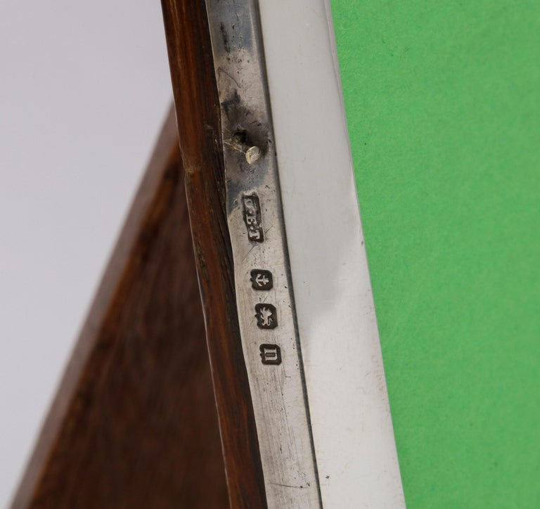 Edwardian Sterling Silver Hump, Topped Wood-Backed Picture Frame For Sale 1