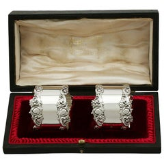 Edwardian Sterling Silver Napkin Rings, 1905