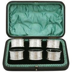 Edwardian Sterling Silver Napkin Rings by Walker & Hall