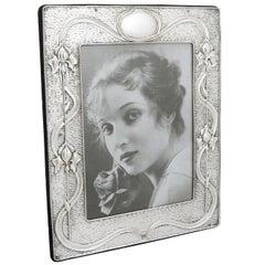 Edwardian Sterling Silver Photograph Frame, Art Nouveau Style