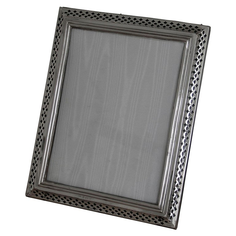 Edwardian Sterling Silver Photograph Frame For Sale