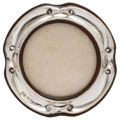 Edwardian Sterling Silver Picture Frame with Wood Back, by Elkington