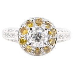 Edwardian Style 1.00 Carat Natural Diamond Ring Set in Platinum