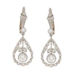 Diamond Garland Pendant-Style Drop Earrings