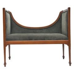 Edwardian Style Upholstered Bench