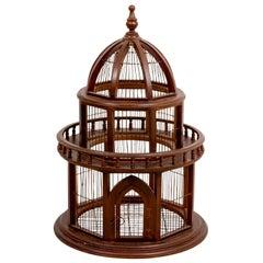 Edwardian Style Wood Birdcage