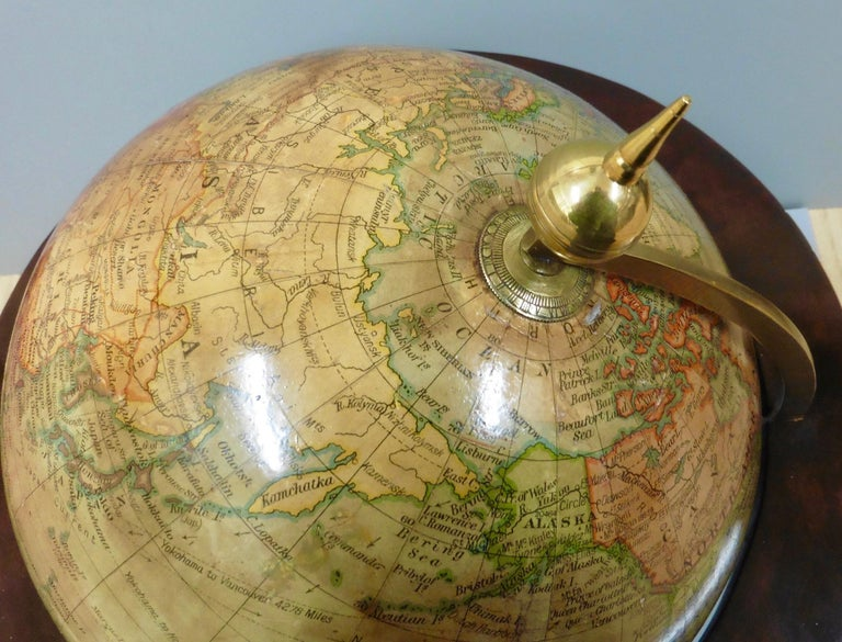 Early 20th Century Edwardian Terrestrial Geographia Tabletop Globe For Sale