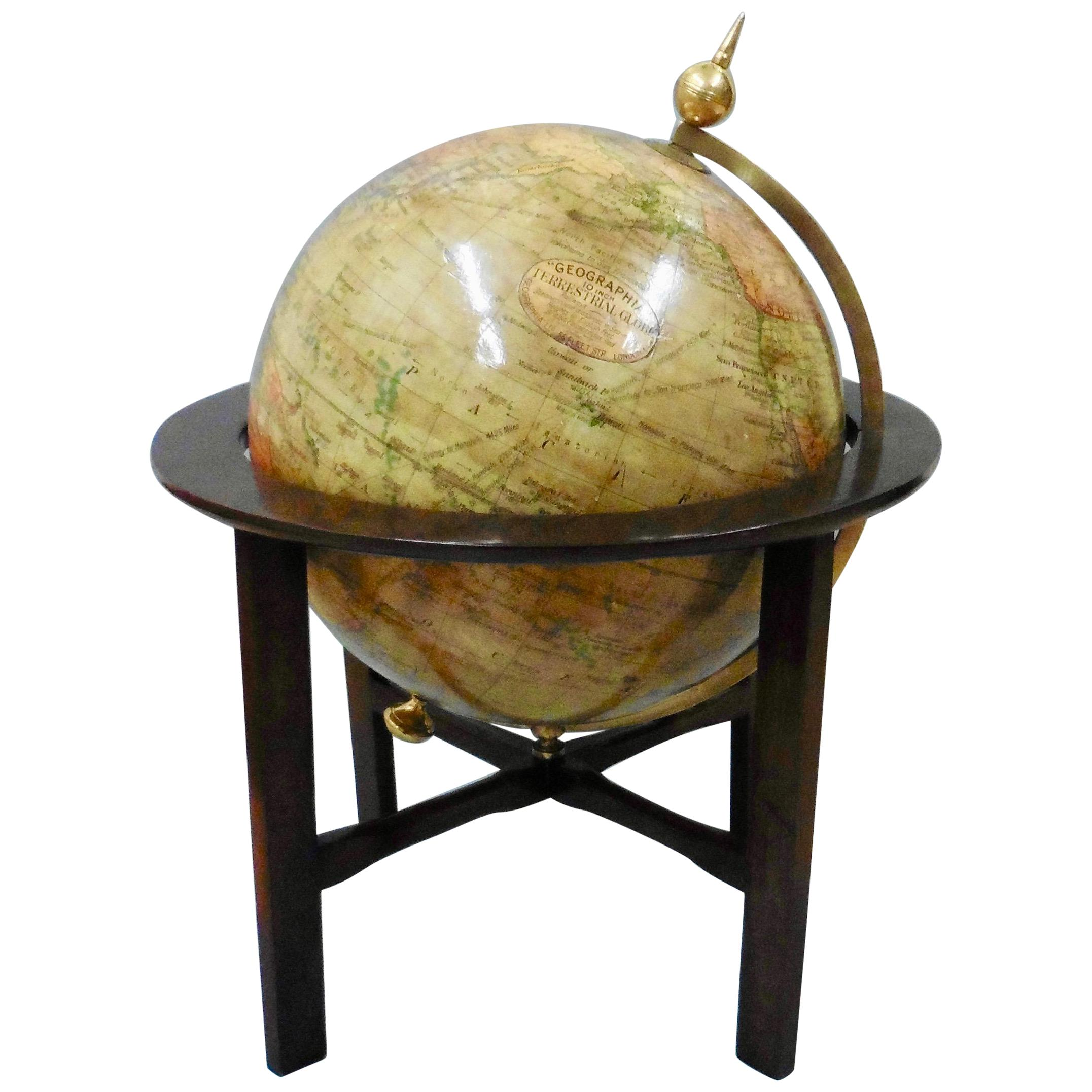 Edwardian Terrestrial Geographia Tabletop Globe