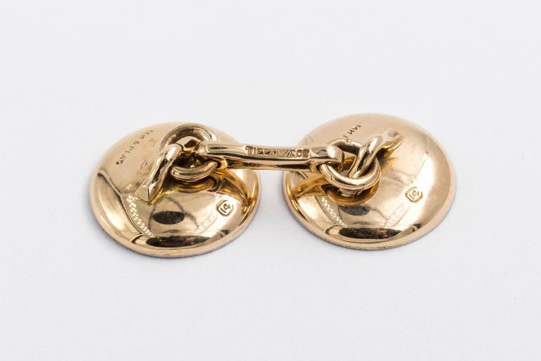 Edwardian Tiffany & Co. 14 Karat Platinum Cufflinks and Shirt Studs Set in a Box In Good Condition For Sale In St.amford, CT